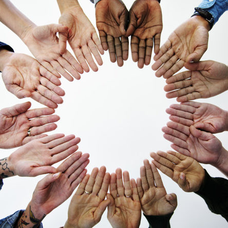 Diverse People Hands Together Partnership